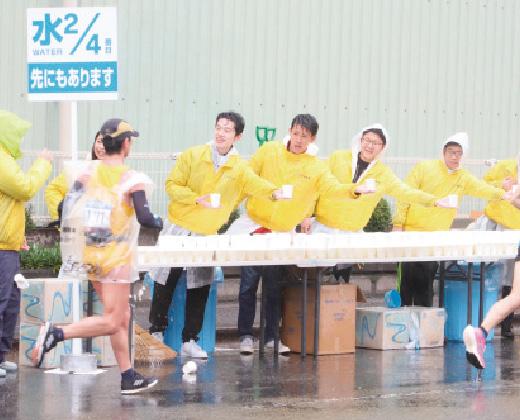 北九州マラソンへの協賛やボランティアスタッフとしての参加