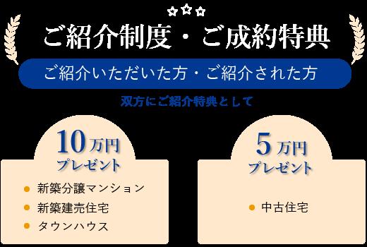ご紹介制度・ご成約特典
